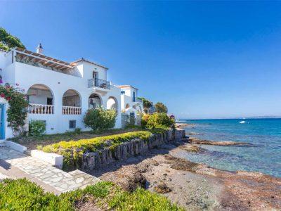 Villa Zenais in Spetses Greece, facade, by Olive Villa Rentals