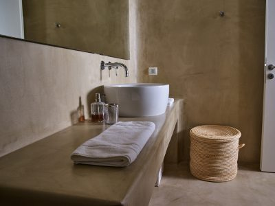 Villa Leticia in Mykonos Greece, bathroom, by Olive Villa Rentals