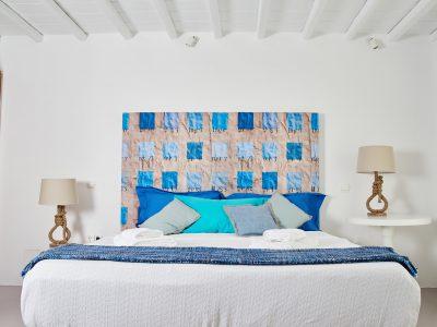 Villa Leticia in Mykonos Greece, bedroom, by Olive Villa Rentals