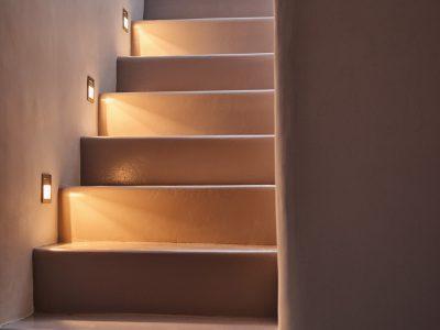 Villa Leticia in Mykonos Greece, stairway, by Olive Villa Rentals
