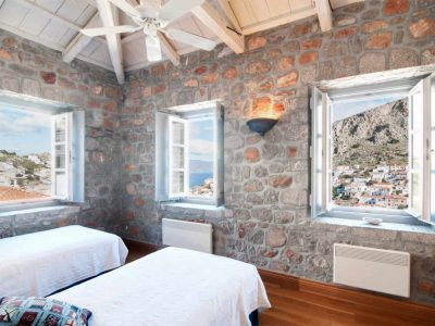 Villa Begonia in Hydra Greece, bedroom, by Olive Villa Rentals