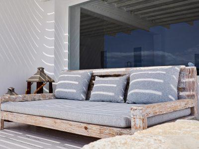 Villa Leticia in Mykonos Greece, outside, by Olive Villa Rentals